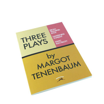 Three Plays by Margot Tenenbaum as a notebook! Wes Anderson, Royal Tenenenbaum inspired