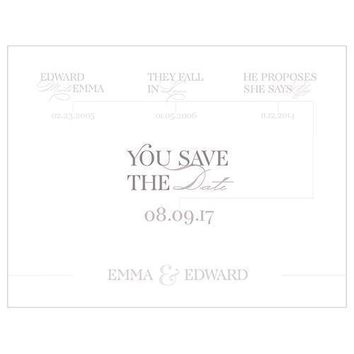 Classic Script Save The Date Card (Pack of 1)