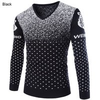 British Style 2015 New Fashion Casual Men Pullovers Sweater Male Long Sleeve