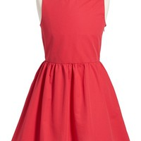 Girl's kate spade new york kids 'tanner' fit & flare cotton dress,