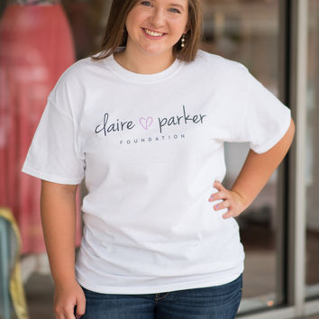 Claire Parker White Tee