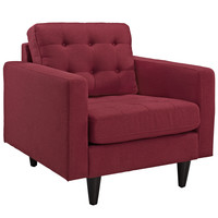 Empress Upholstered Armchair Red