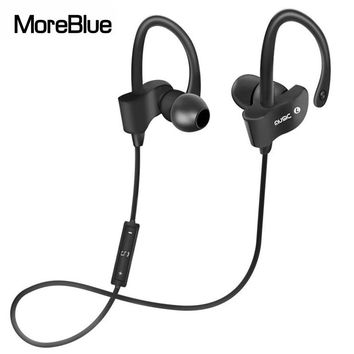 MoreBlue 56S Wireless Bluetooth Earphones Waterproof IPX5 Headphone Sport Running Headset Stereo Bass Earbuds Handsfree With Mic