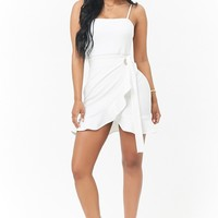 Flounce Mini Homecoming Dress