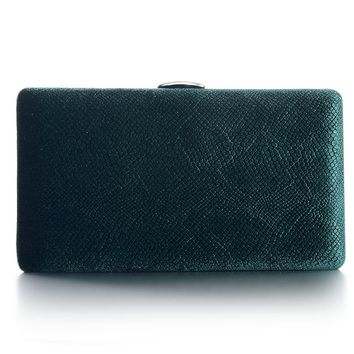 Dark Green Velvet Hard Case Box Clutch Evening Bags and Clutch Purses Handbags with Shoulder  Chain for Ball Party Prom