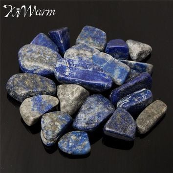 KiWarm 50g Natural Blue Lapis Lazuli Rock Rough Stone Crystal Mineral Specimen Healing Gemstone for Home Fish Tank Decor Crafts