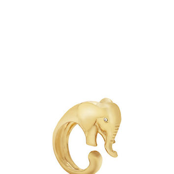Kate Spade Golden Elephant Wrap Ring Gold