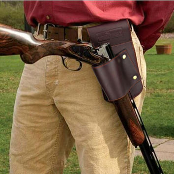 Tourbon Hunting Gun Accessories Gun Holster Waist Belt Shotgun Rifle Holder Leather