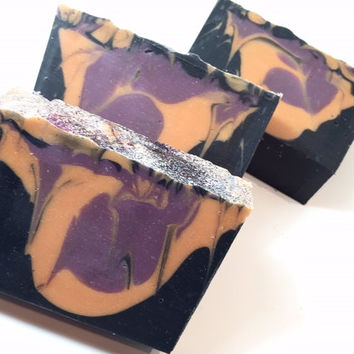 Witch's Tears Soap, Halloween Soap, Cold Process Soap, Patchouli Soap, Witch Soap, Homemade Soap, Spices Soap, Violet Soap, Cauldron Soap