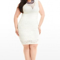 Plus Size Catwalk Lace Dress | Fashion To Figure