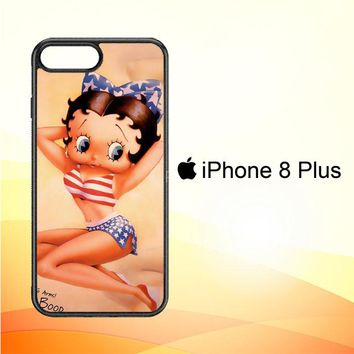 Betty Boop Pinup F0306 iPhone 8 Plus Case