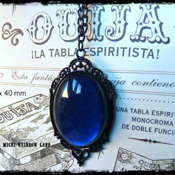 Mysterious Ocean Gothic Necklace - Black gift box included