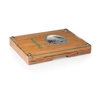 Miami Dolphins - Concerto Glass Top Cheese Board & Tools Set