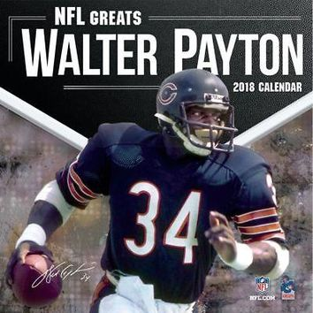 NFL Greats Walter Payton Wall Calendar, Hockey by Turner Licensing