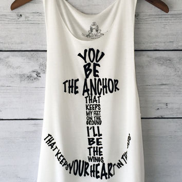 Anchor Graphic Print Tank Top