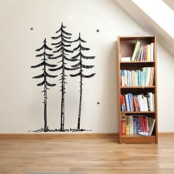Tall Skinny Pines Pine Trees Vinyl Wall Decal Sticker Graphic