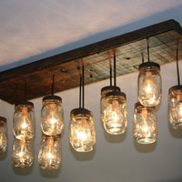 "The ""Coming Home"" Custom Mason Jar Chandelier"