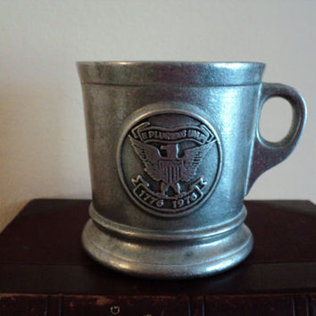 Pewter Shaving Soap Mug Bicentennial Promo Williams Shaving Company 1976 Collectible Shaving Memorabilia Vintage Americana Shaving Soap Mug