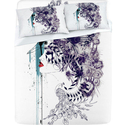 DENY Designs Home Accessories | Holly Sharpe Peacock Girl II Sheet Set