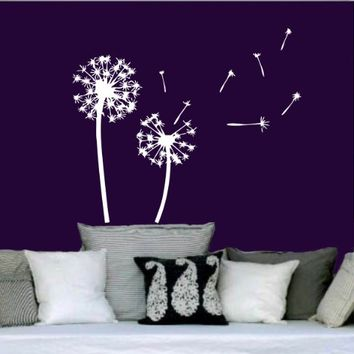 Wall Decals Vinyl Sticker Decal Art Home Decor Dandelion in the Wind Flower Nature Plants Grass Forest Nursery Bedroom Murals (6048)