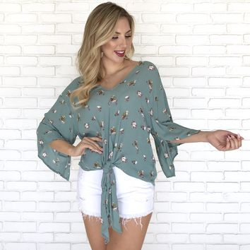 Petals In The Wind Floral Top