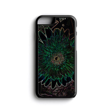 iPhone case Neon trippy life floral iPhone 4, iPhone 5, iPhone 5c, iPhone 6, iPhone 6 Plus with FREE iPhone Tempered Glass Screen Protector