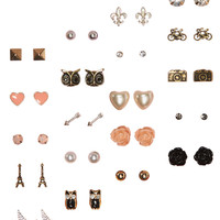 Aeropostale  Eiffel Tower Stud Earring 20-Pack