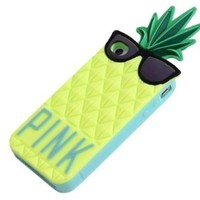Mingfung Pineapple Fashion 3d Fruit Ananas Style Soft Case Protective Cover for for Iphone 5/5c Yellow