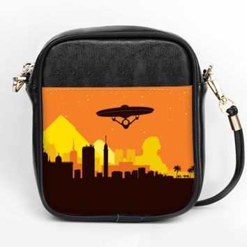 Space Travel in Egypt Crossbody