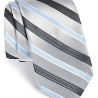 Men's Michael Kors 'Mt. Supery Stripe' Woven Silk Tie, Size Regular