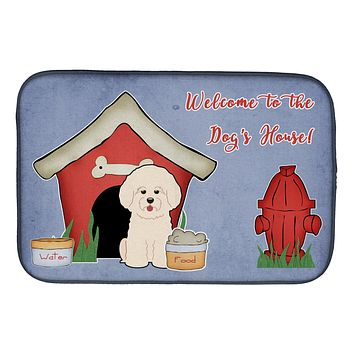 Dog House Collection Bichon Frise Dish Drying Mat BB2829DDM