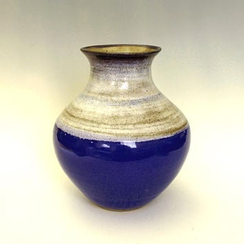 Ceramic vase, large vase, blue vase, flower vase, handmade, pottery vase, high fired