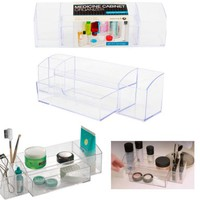 Bathroom Medicine Cabinet Organizer 5 Compartments Clear Drawer Makeup Storage - Walmart.com