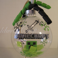 Minecraft Floating Glass Ball Christmas Ornament