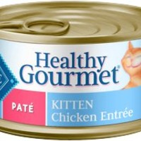 Blue Buffalo Healthy Gourmet Pate Kitten Chicken Entree Canned Cat Food, 3-oz, case of 24