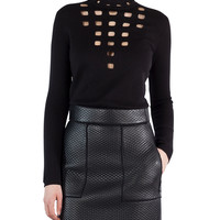 Akris Scuba-Fused Leather Skirt and Matching Items