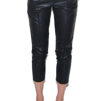 I Need You Faux Leather Cigarette Pants in Black