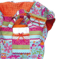Owl Print Diaper Bag Set