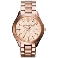 Michael Kors Women's 'Runway' Quartz Stainless Steel Watch, Color:Rose Gold-Toned (Model: MK3336)