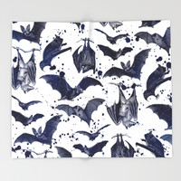 BATS Throw Blanket by DIVIDUS