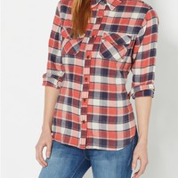 Washed Plaid Shirt by Wild Blue x Sadie Robertson™