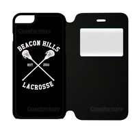Beacon Hills Cyclones Teen Wolf White iPhone 6 Plus/6S Plus Flip Case | casefantasy