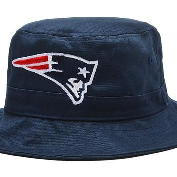 PEAPON New England Patriots Bucket Hats Blue