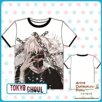 New Tokyo Ghoul Full Color Exclusive Anime Print Short Sleeve High Quality Soft Comfortable Tshirt MGF-7