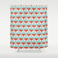 Sleeping Fox Shower Curtain by ItsJessica