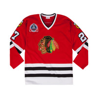 Mitchell & Ness Jeremy Roenick 1991-92 Authentic Jersey Chicago Blackhawks In Red