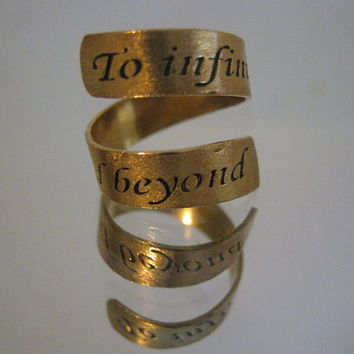 To infinity and beyond, Disney, Toy story, Personalized ring, gifts for best friends, mens gift, gold ring, anniversary gift, Infinity ring