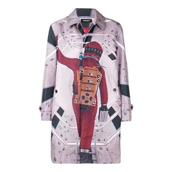 A Space Odyssey Graphic Trench Coat by Undercover