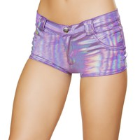 Roma Rave 3620 - 1pc Shorts with Front Dummy Pockets, Back Pockets, with Button and Zipper Front Closure