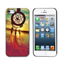 Aokdis New Hot Selling Fashional Individualized Hard Back Case for Iphone 5 5g 5s (Dream Catcher Campanula)